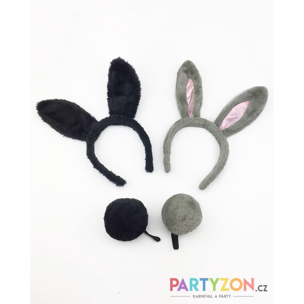 černé králičí uši na čelence ocas králičí uši na čelence partyzon e50846c9f2