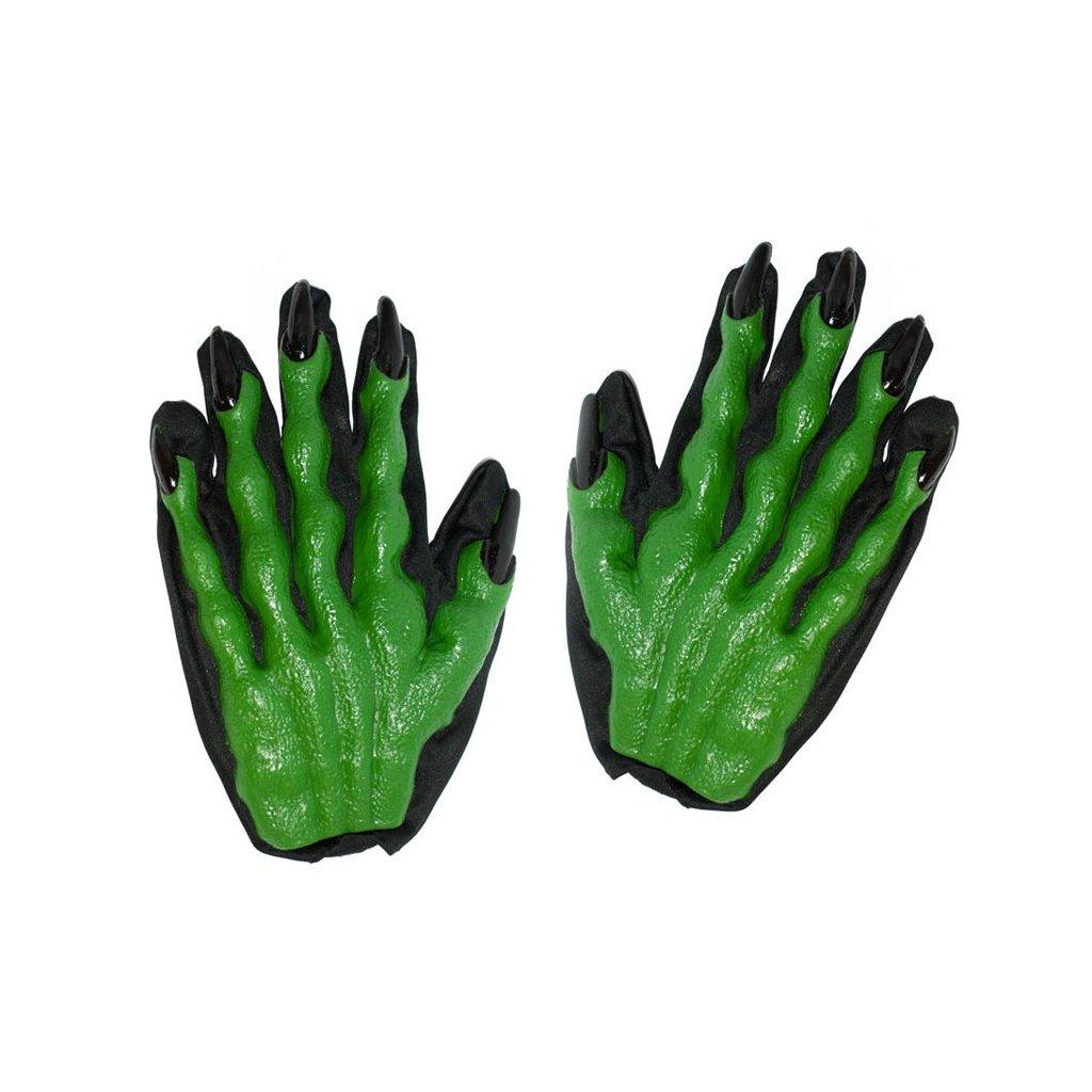 77267f33582 Zelené gumové rukavice s prsty