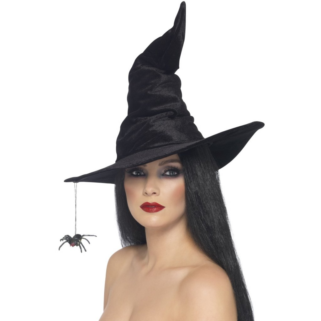 Čarodějnický klobouk s pavoukem  26f1d65363