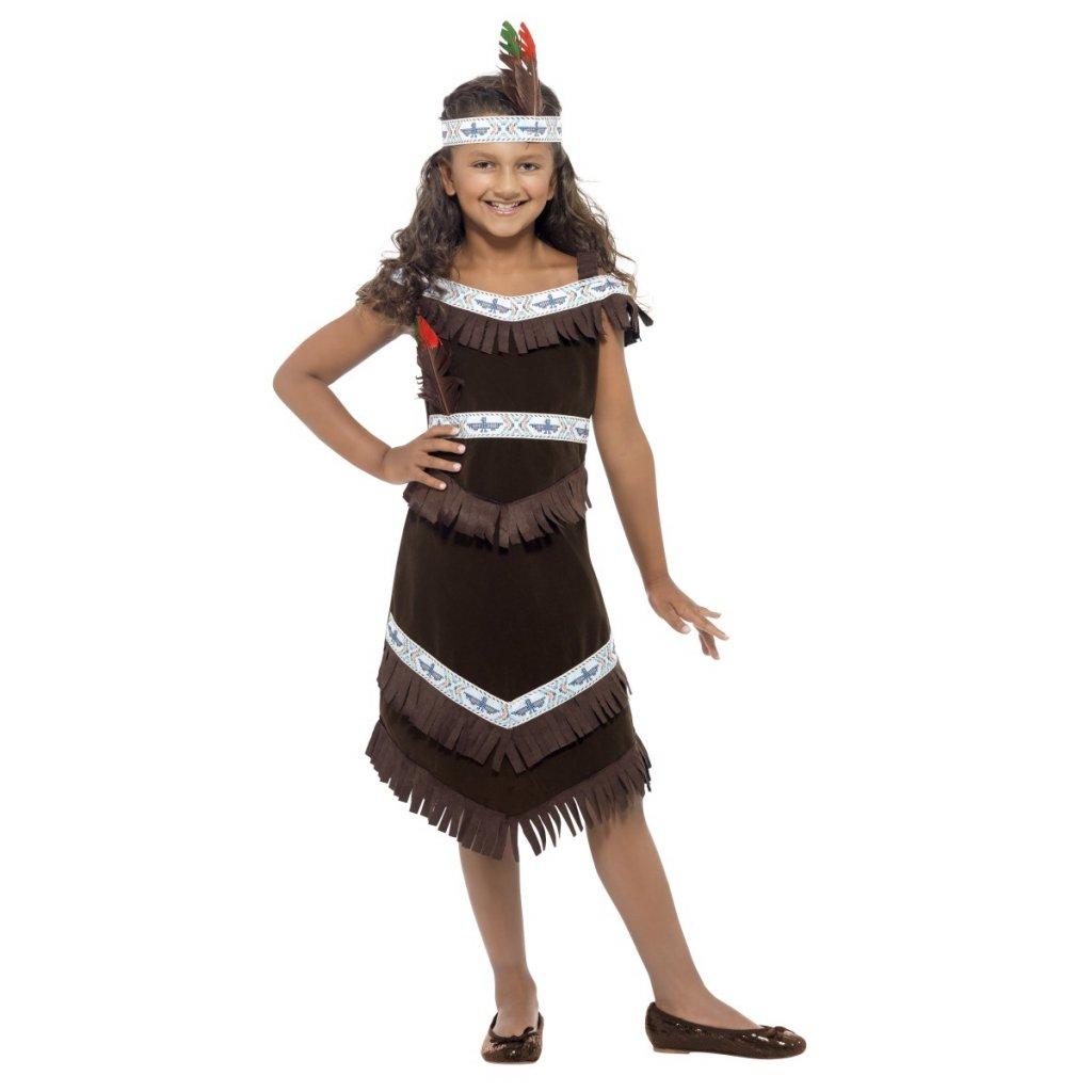 Kostým indiánské šaty hnědé