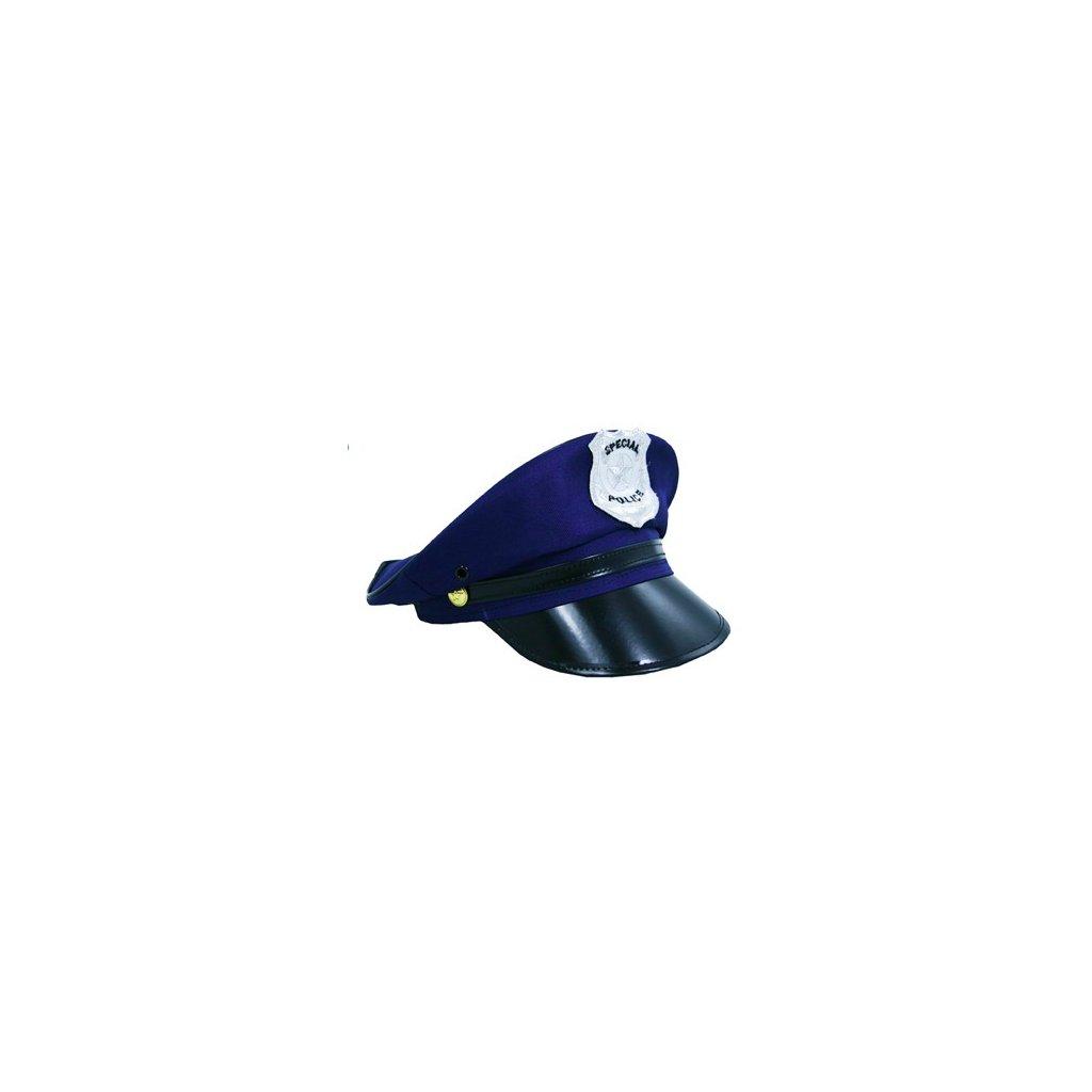 Policejní čepice modrá dospělý f7889e7139
