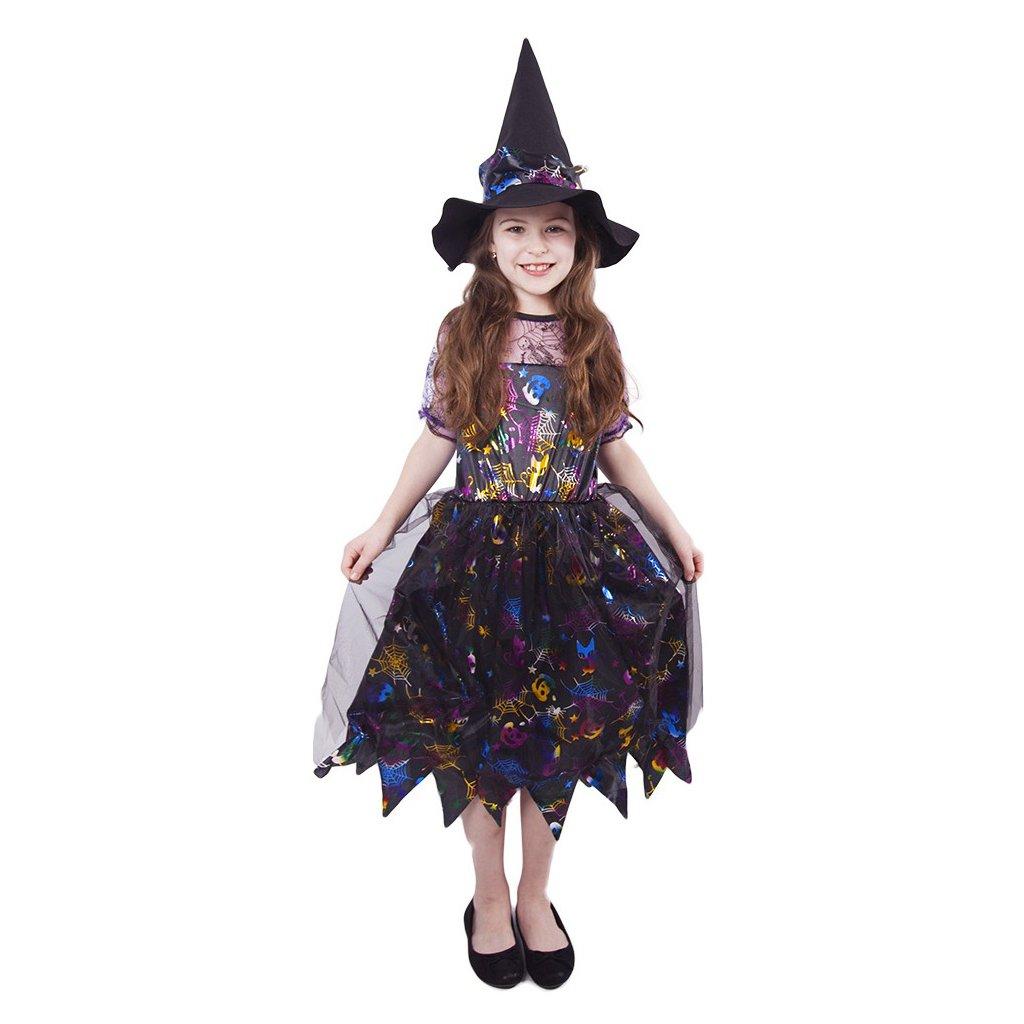 barevný kostým čarodějnice pro děti