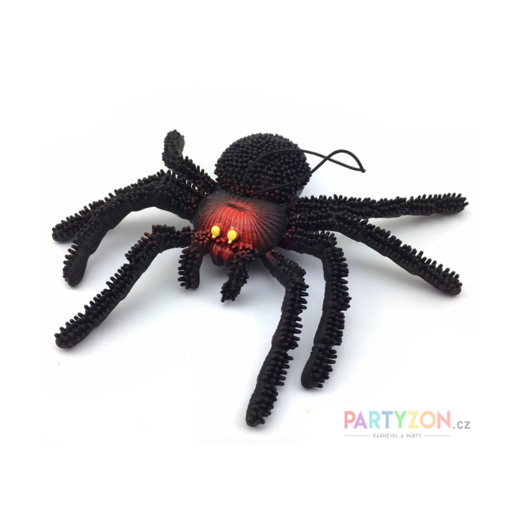 gumový pavouk halloween dekorace