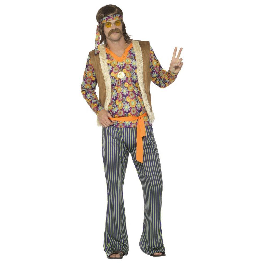 Pánský retro kostým Hipík partyzon
