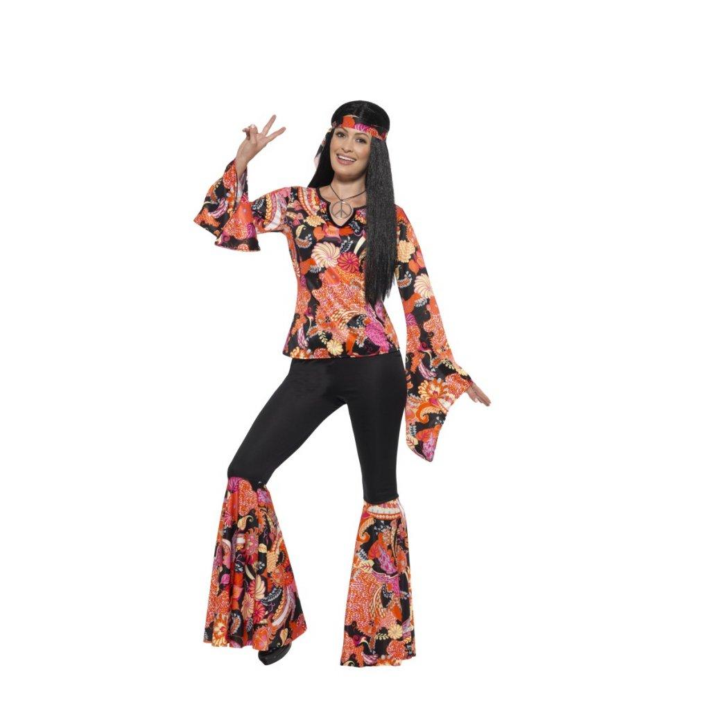 43263f10a937 Dámský retro kostým hippiesačka