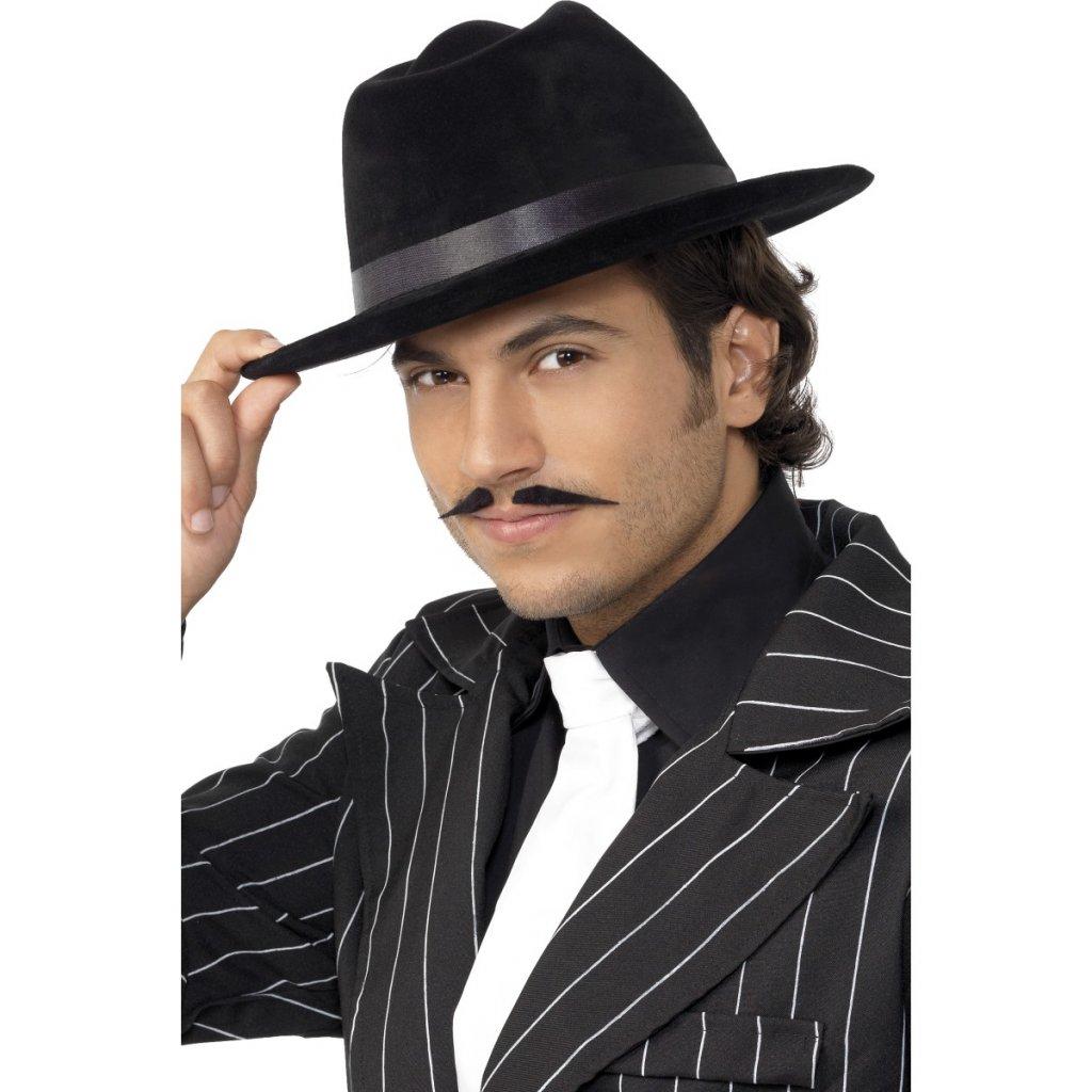 2208455f2b5 Mafiánský klobouk černý 20. léta