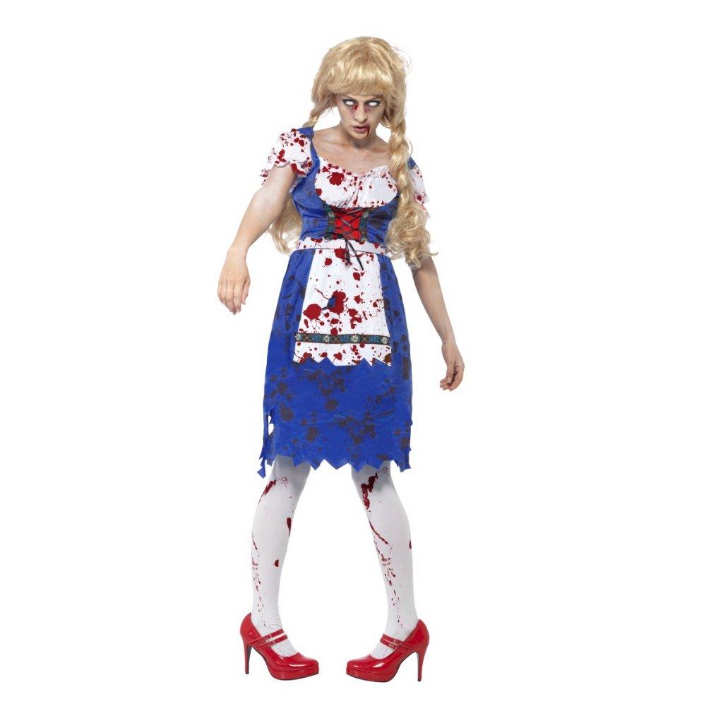 Zombie kostým modré šaty