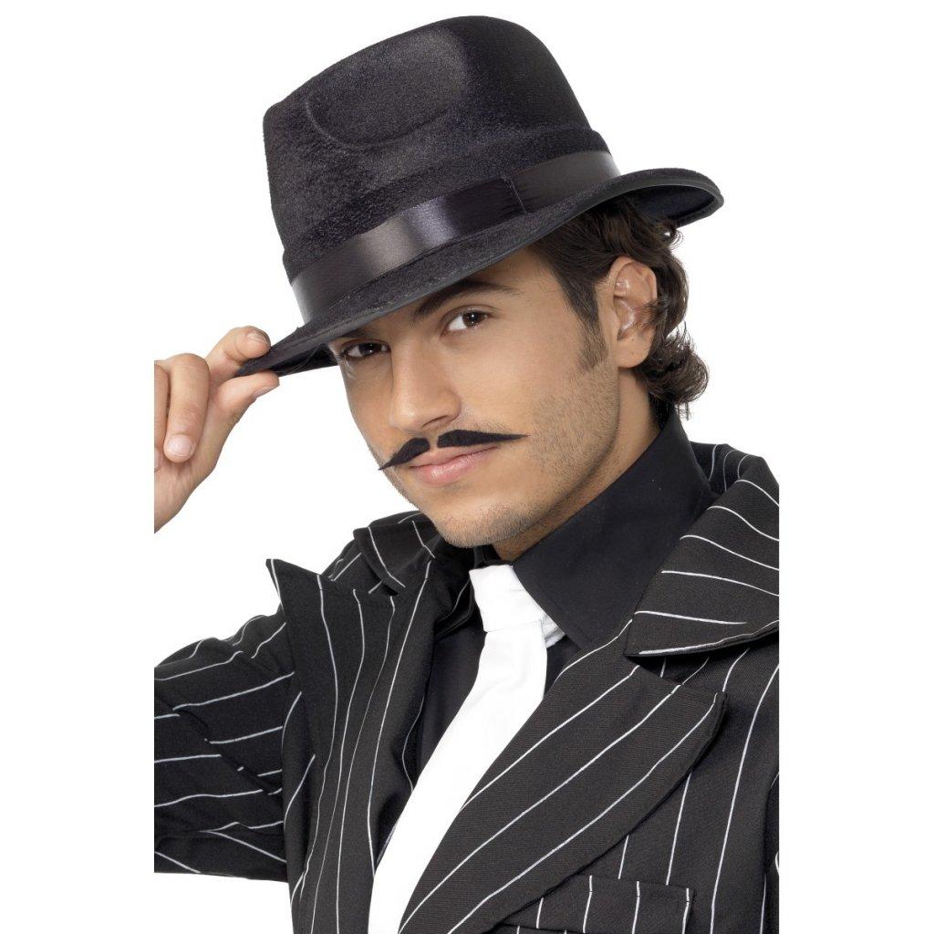 Černý mafiánský klobouk 20. léta  3bc94a76e7