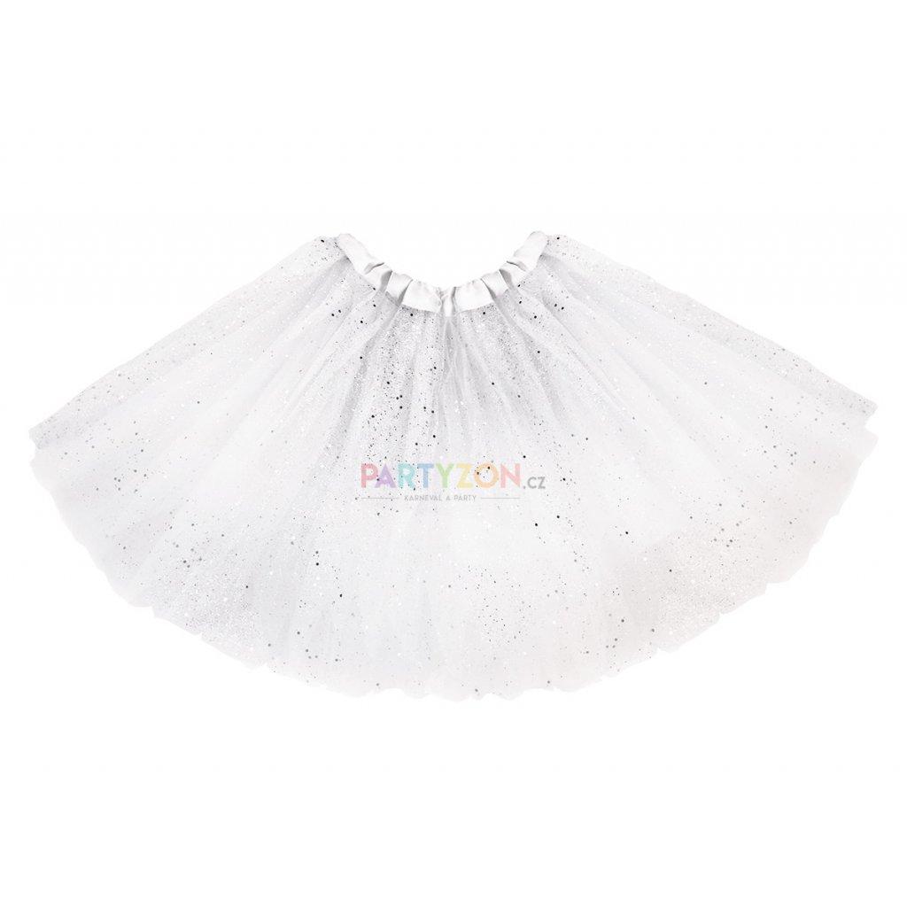 bílá tutu sukně