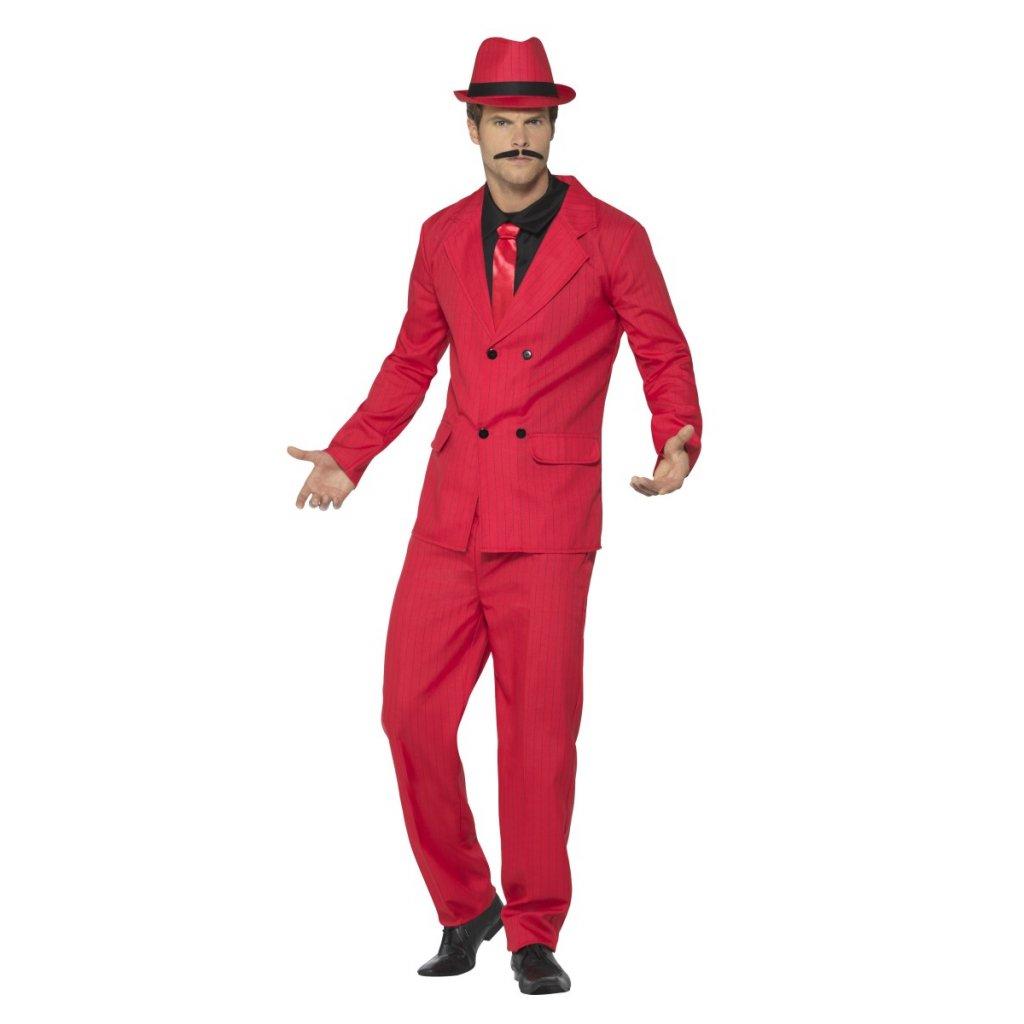3a3e89f0f28 Mafiánský kostým oblek červený - Párty 30. léta