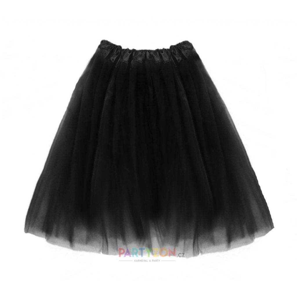 dlouhá tutu sukně černá 70 cm partyzon