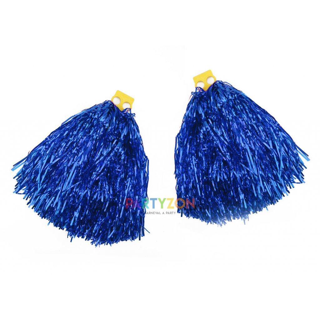 modré pompony pro roztleskávačky