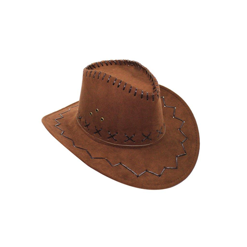 Kovbojský klobouk hnědý dospělý levně  99ec912ddc