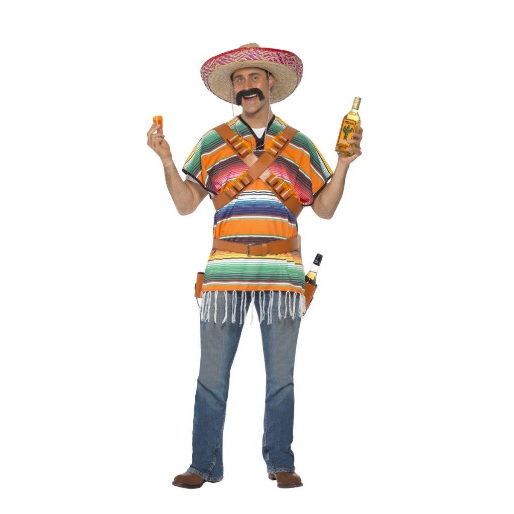 Mexické pončo s opaskem na štamprle partyzon