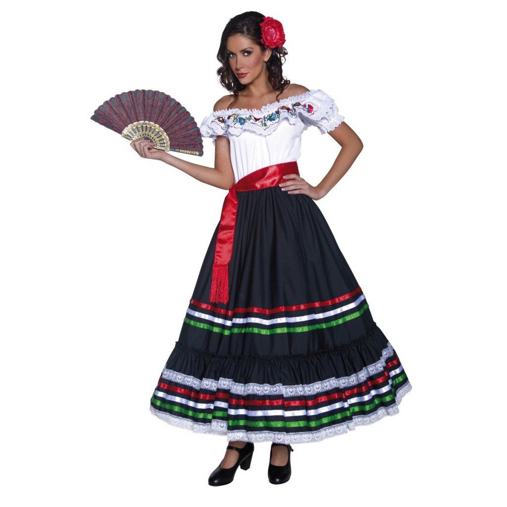Dámský kostým šaty mexická seňorita