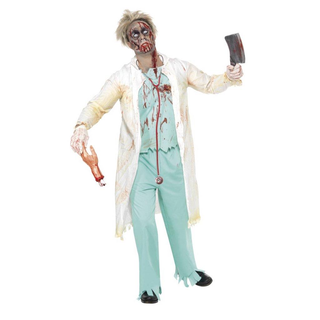 Strašidelný kostým zombie Doktor plášť