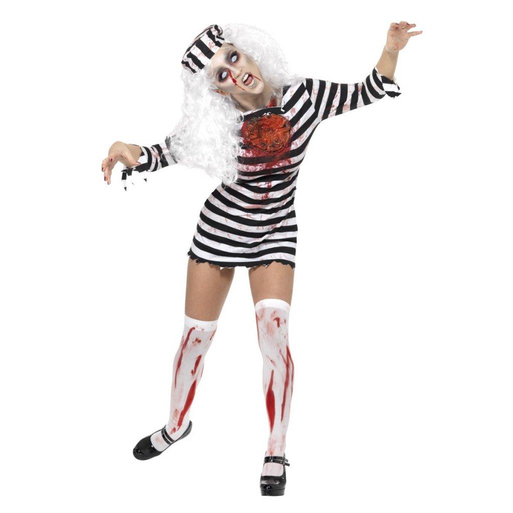 strašidelný sexy Halloween kostým zombie vězeňkyně