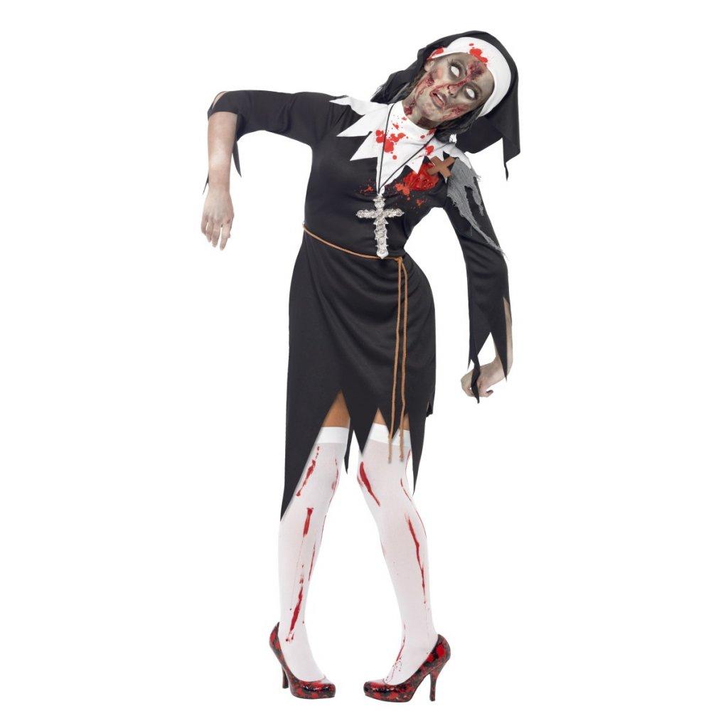 Dámský kostým zombie jeptiška