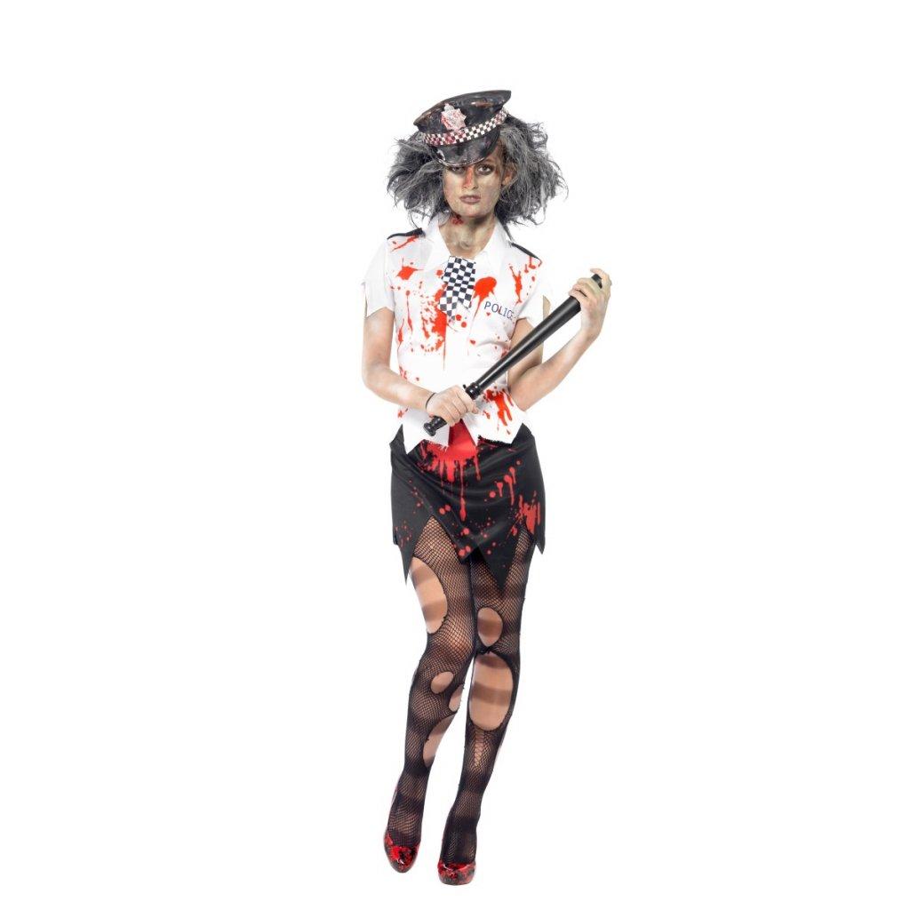 Dámský kostým zombie policistka horor