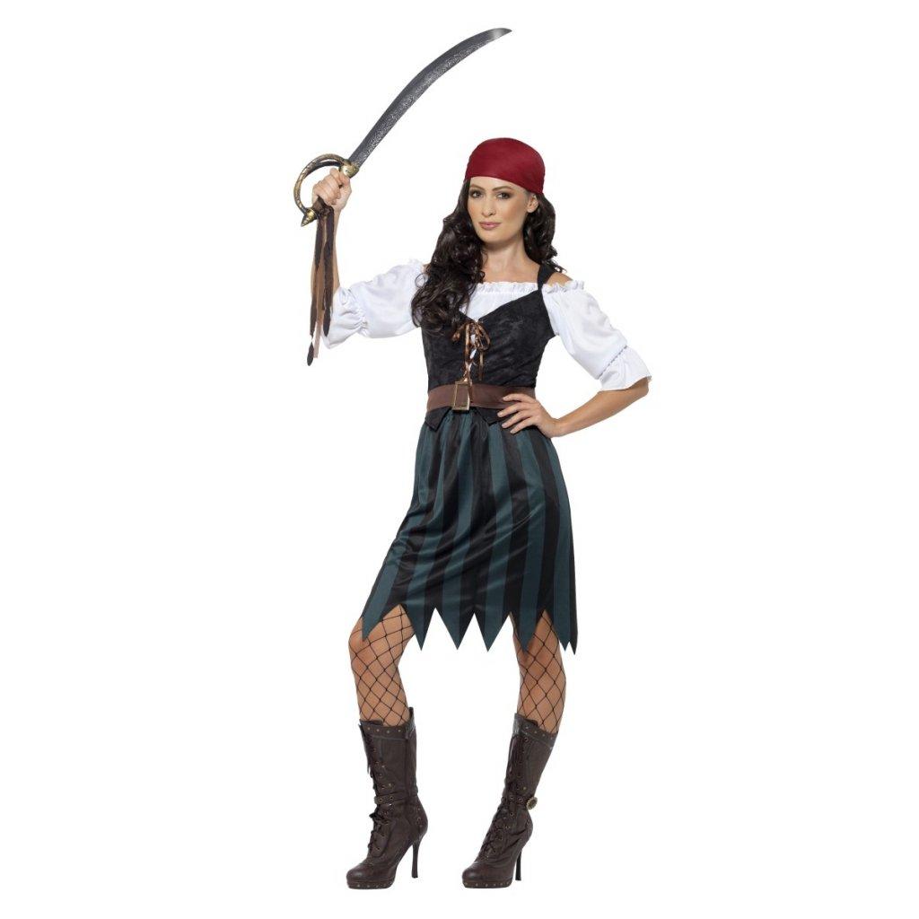 Dámský kostým pro pirátky levný