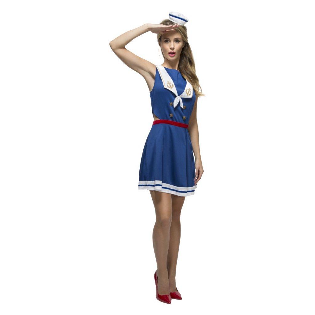f0ba782e08e3 Námořnické šaty modré kostým