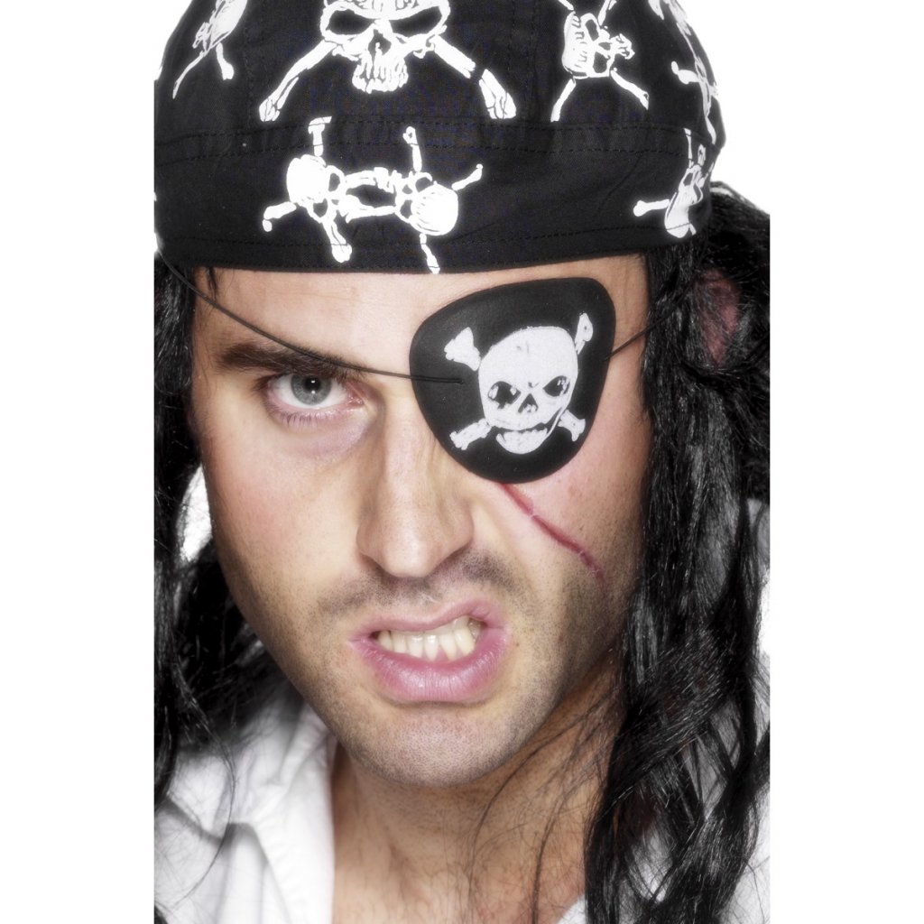 Pirátská páska přes oko Lebka
