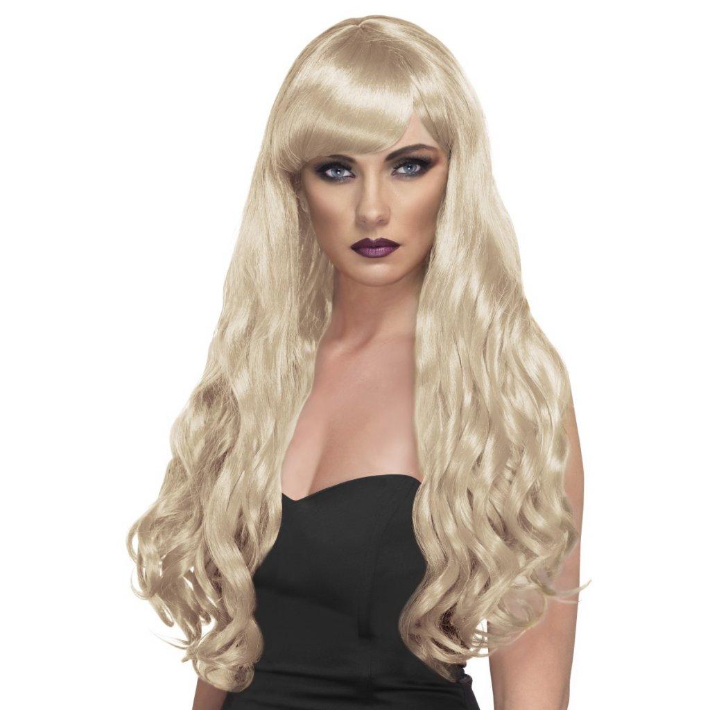 Dlouhá vlnitá paruka blond partyzon