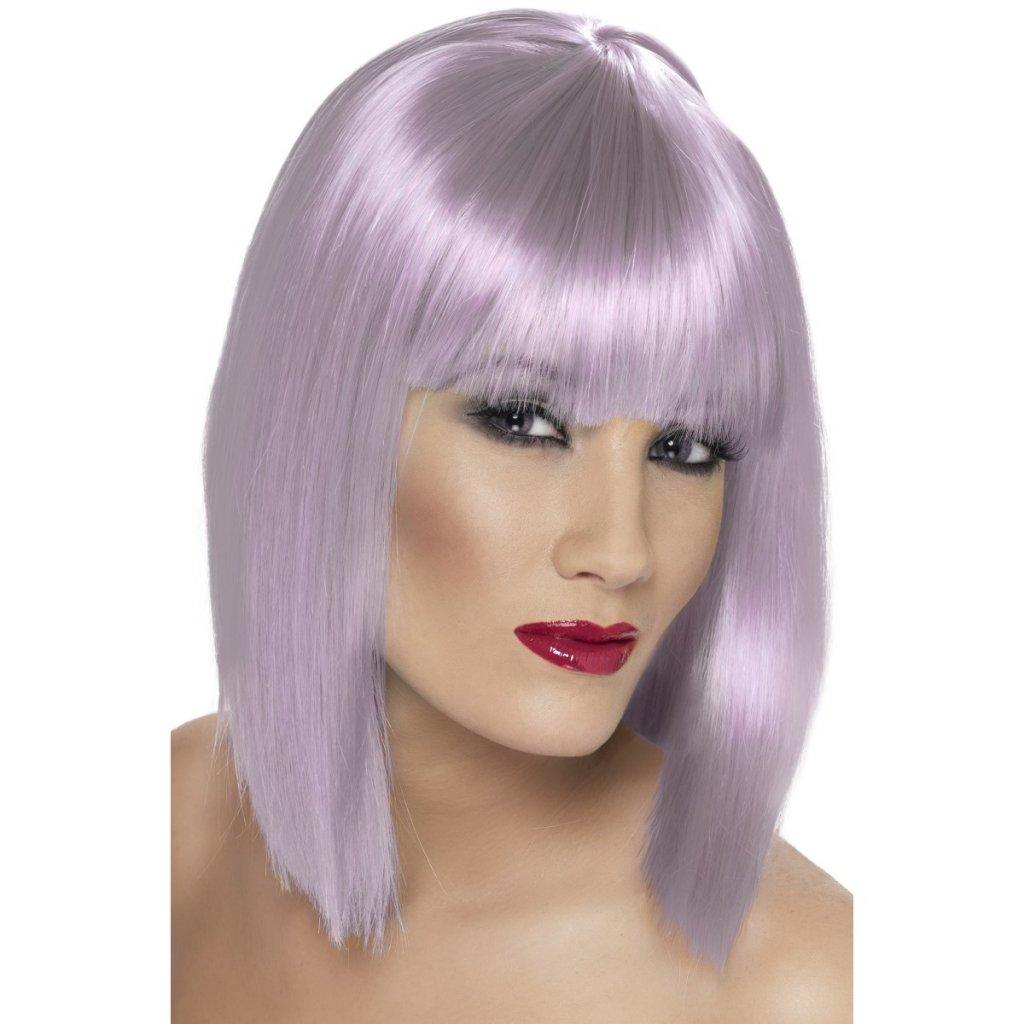 Krátká paruka fialová Pastel partyzon