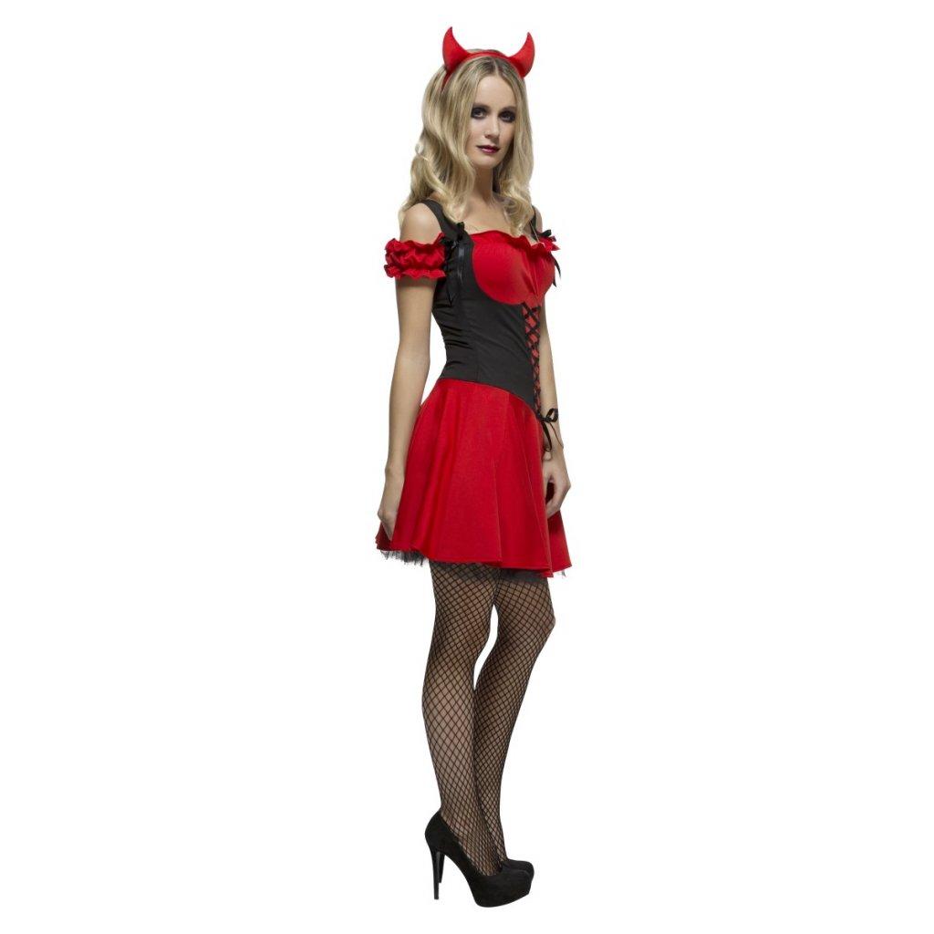 ed05d09fc463 Dámský kostým sexy čertice šaty