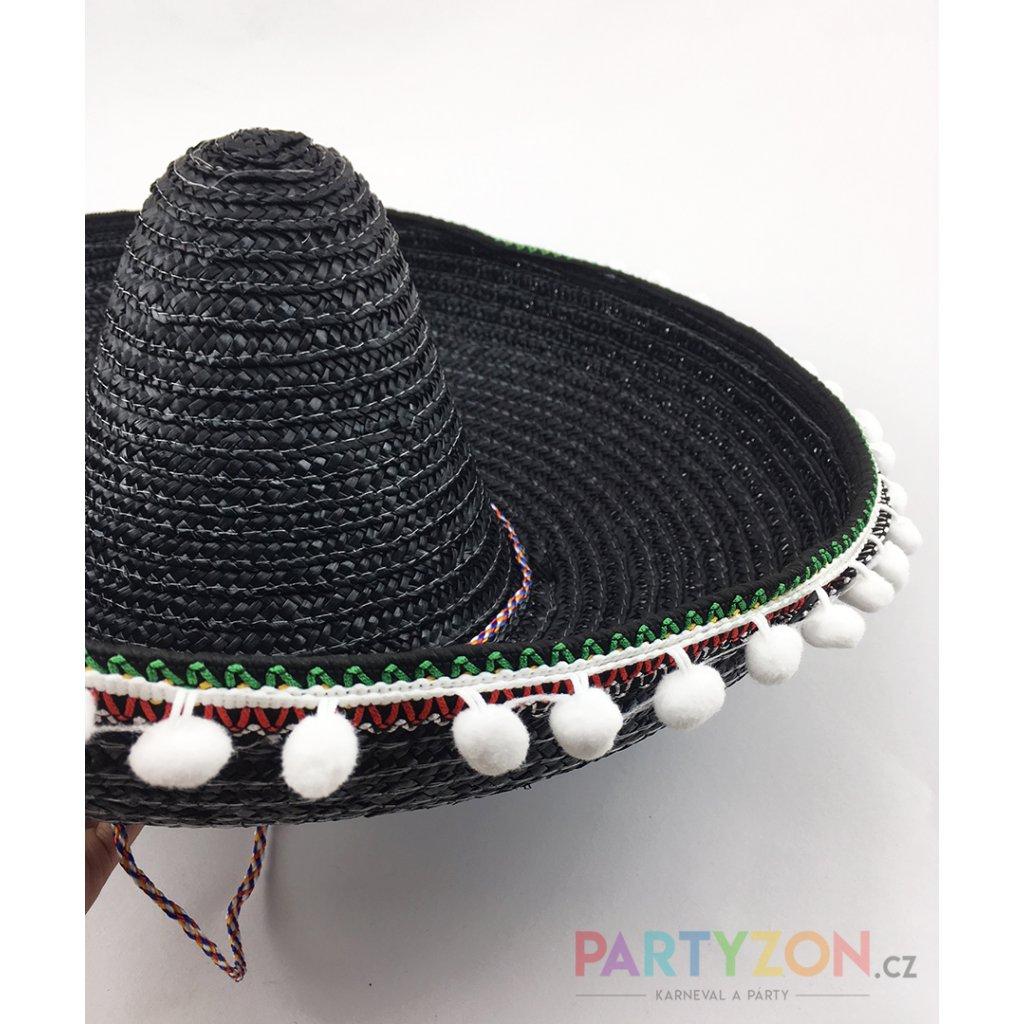 dce1a4a34 Velké mexické sombrero černé   PARTYZON.cz