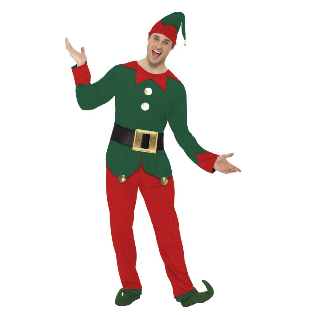 Kostým vánoční elf zelený