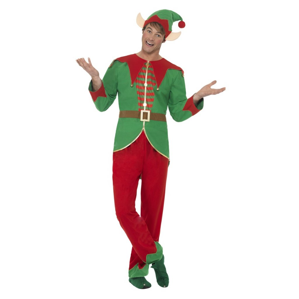 Pánský kostým Vánoční elf partyzon