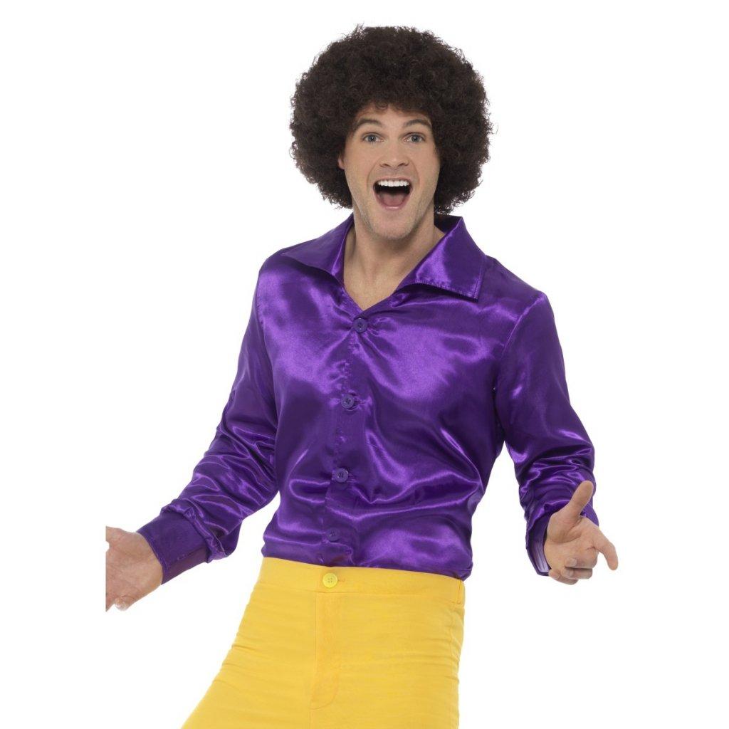 Fialová košile 70. léta retro partyzon