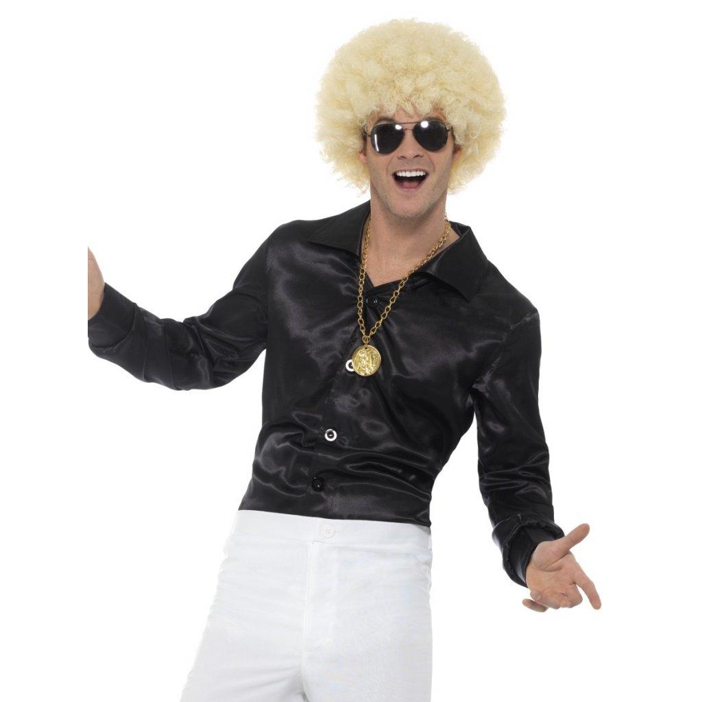 62ffb424691 Černá retro košile Disco karneval