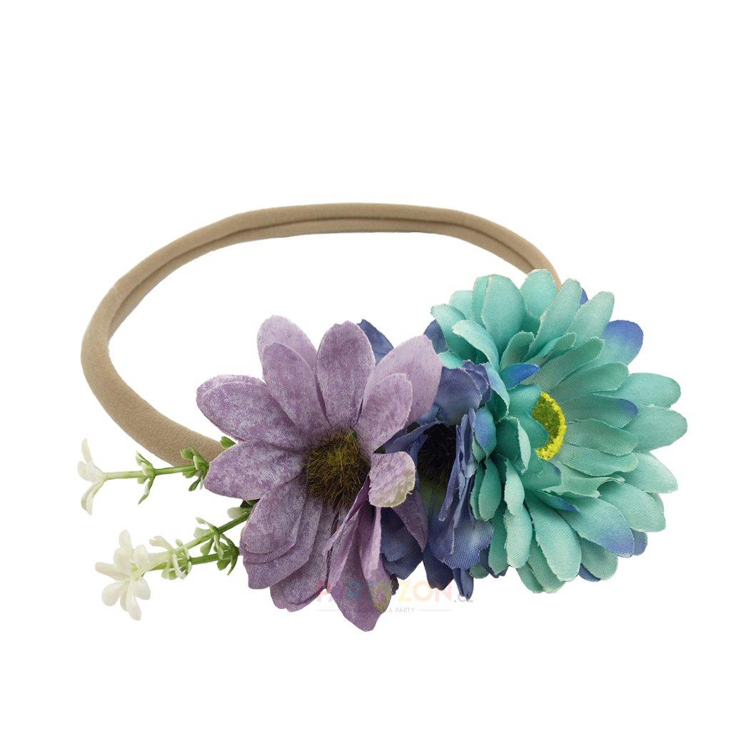 4efd13088d0 květinová čelenka do vlasů levně