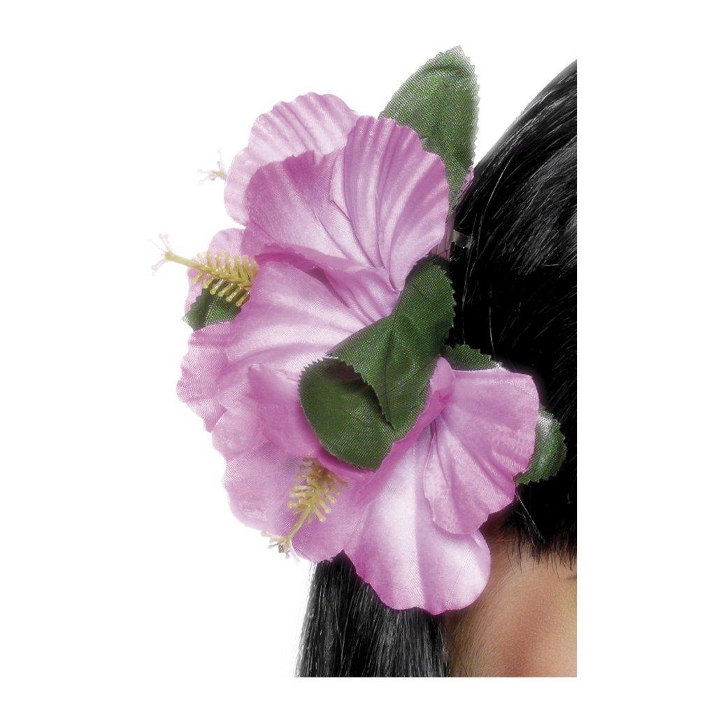 Havajský květ do vlasů růžový