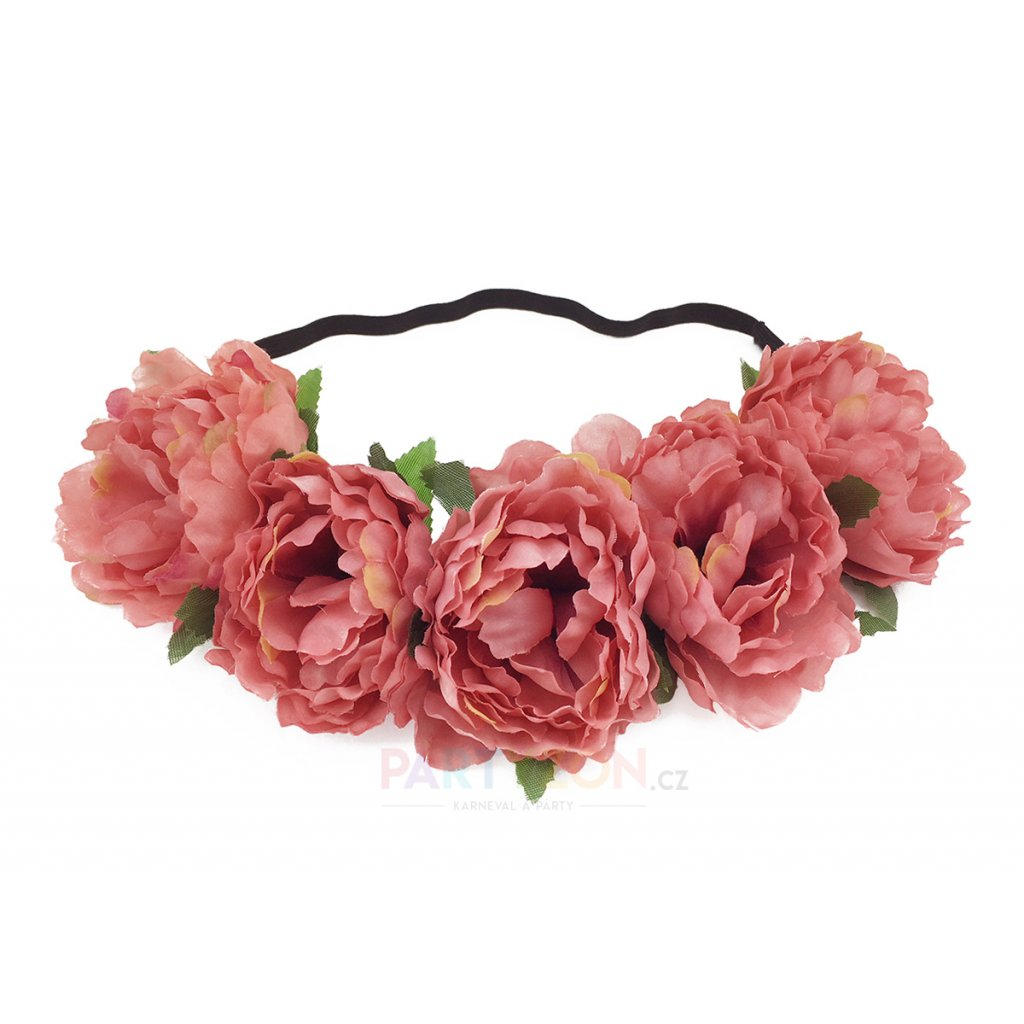 Svatební květinová čelenka Peach  c335bd0911