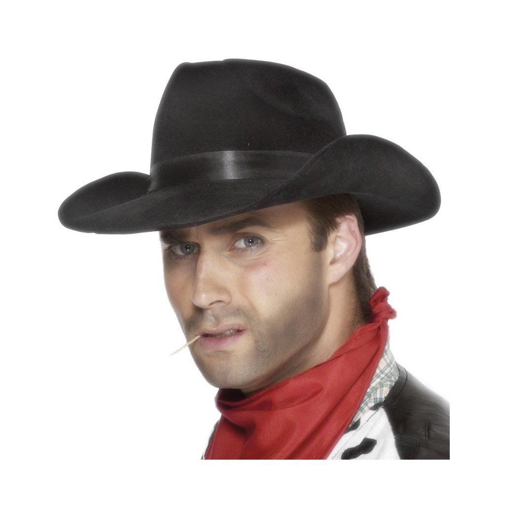 Kovbojský klobouk černý levně  57fb5ba428
