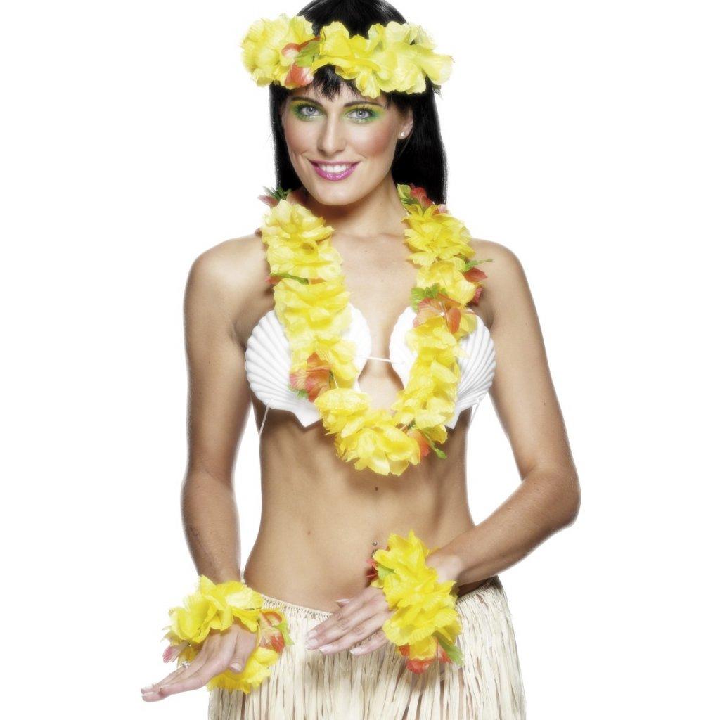 Havajský set žlutý