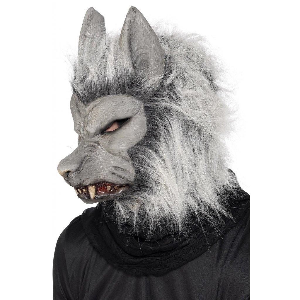 Strašidelná maska vlkodlaka halloween