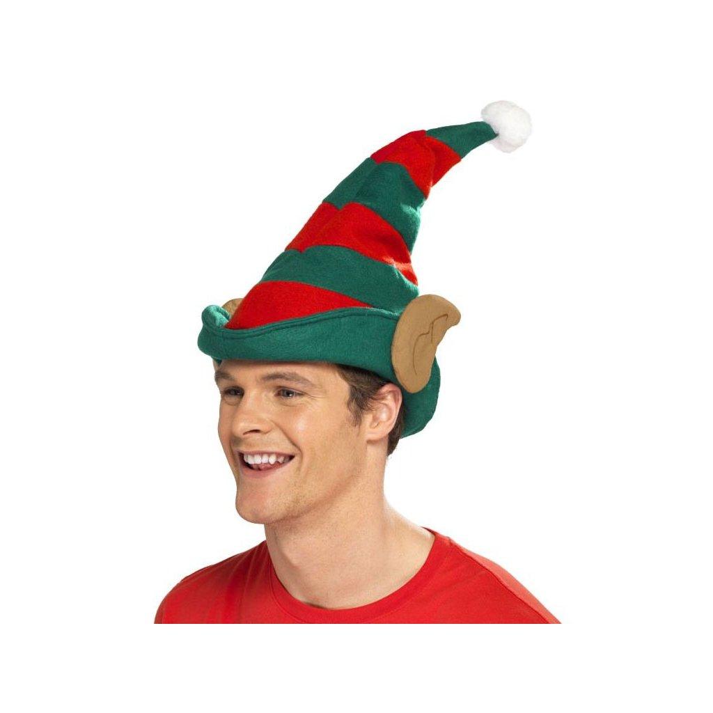 čepice vánoční elf