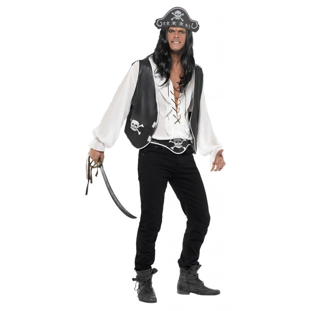 pirátská sada vesta a klobouk