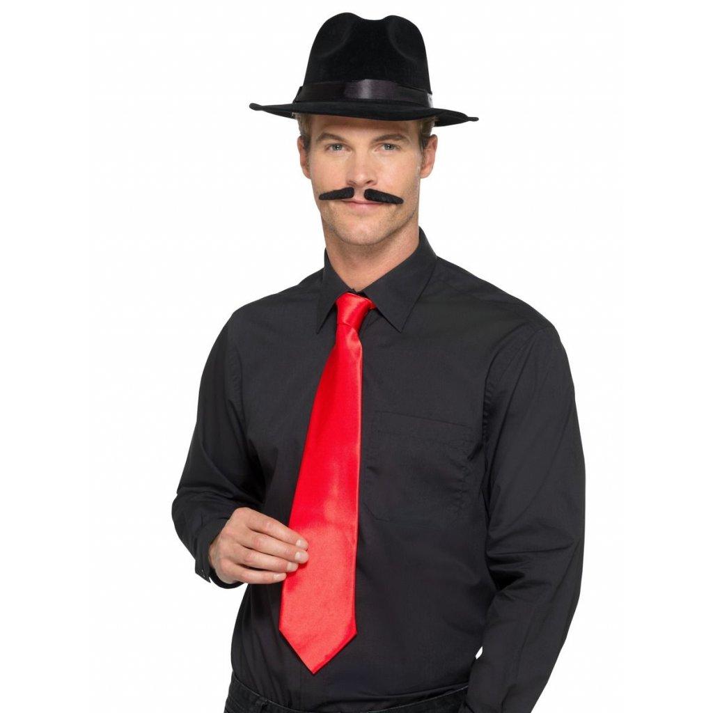mafiánská kravata červená 30 leta