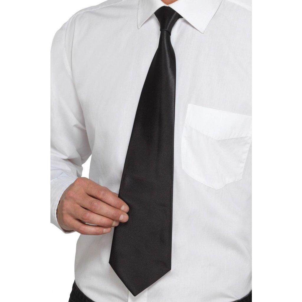 Pánská kravata černá levně