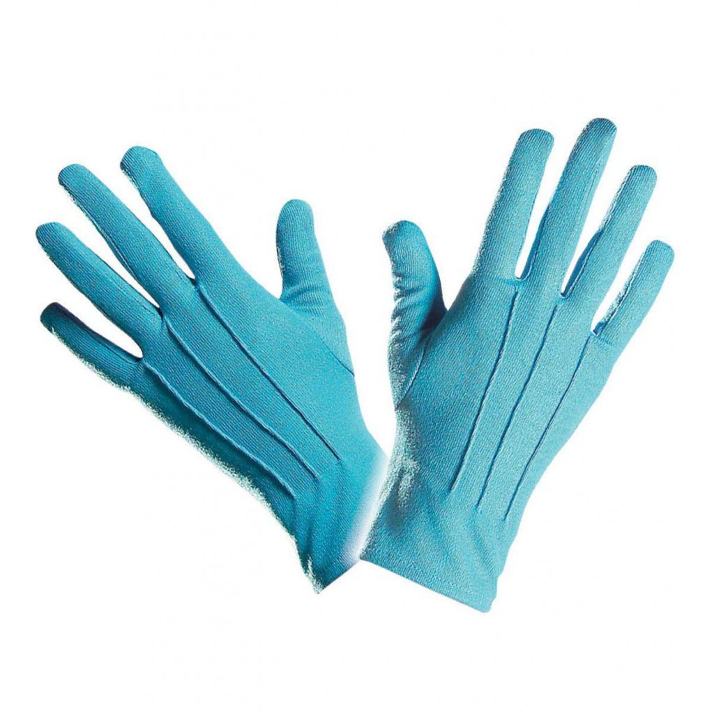 levné modré rukavice karneval