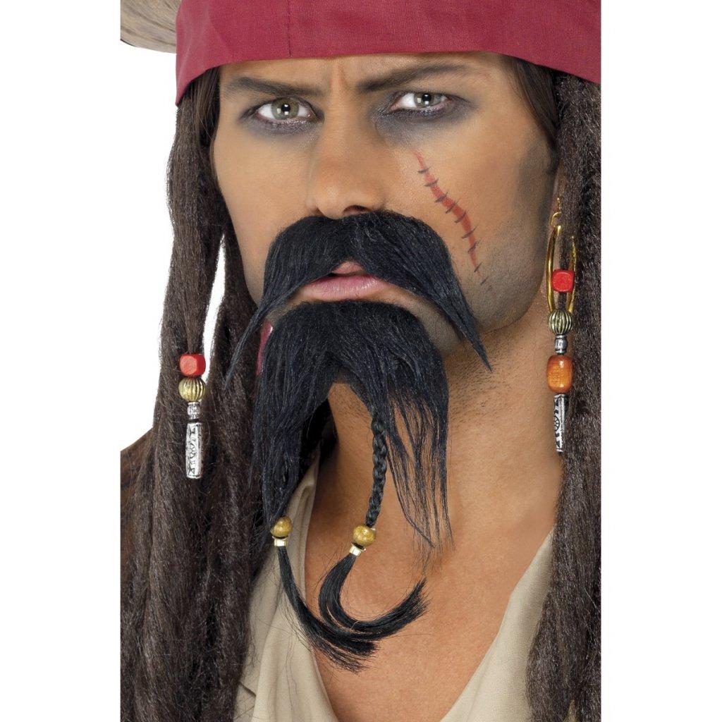 Pirátský knír s bradkou (Jack Sparrow) 41b2f22d34