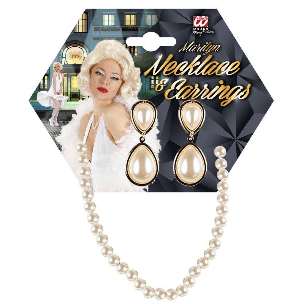 náhrdelník a náušnice perly