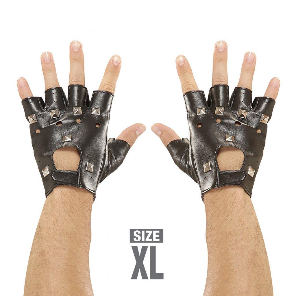 Pánské rukavice s cvoky punk rock