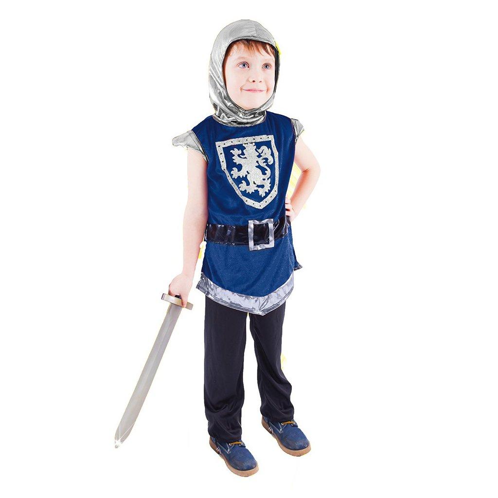 klučičí Dětský kostým rytíře modrý