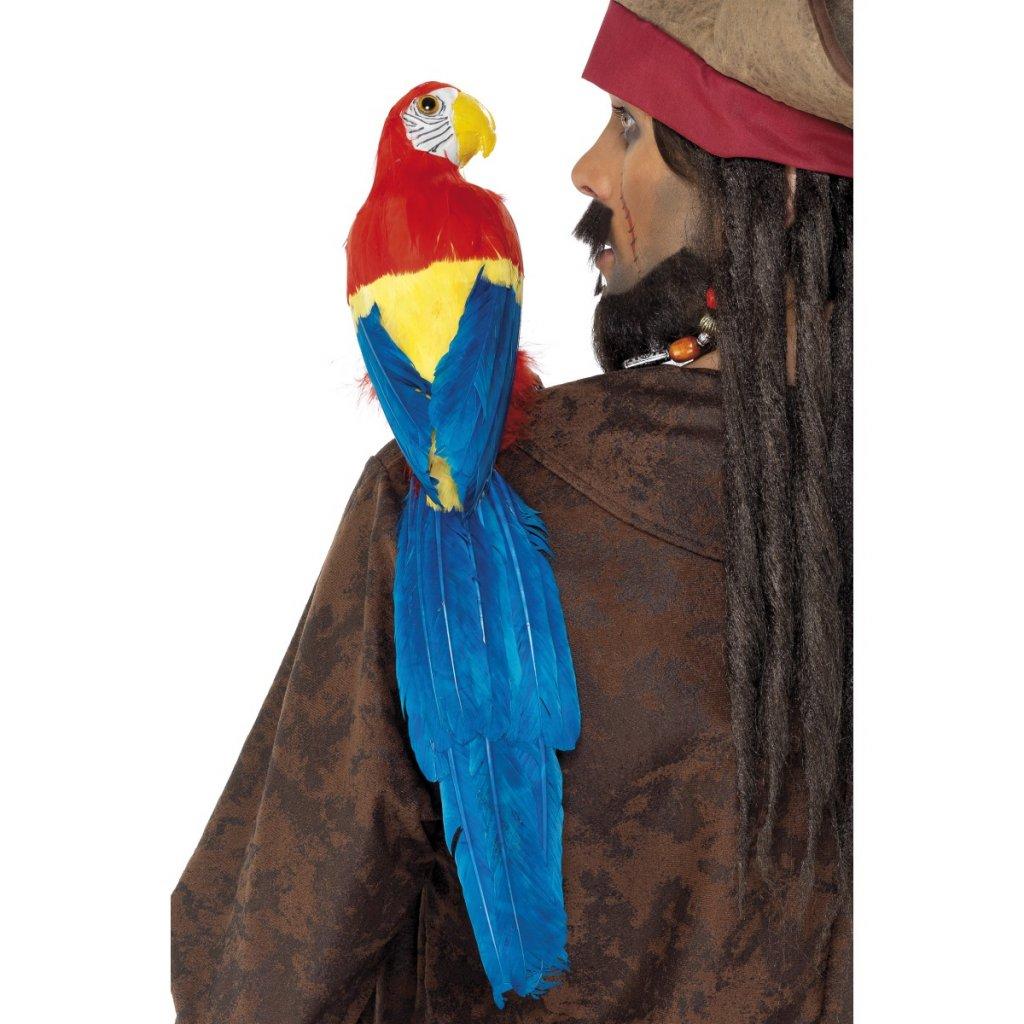 Pirátský papoušek na rameno